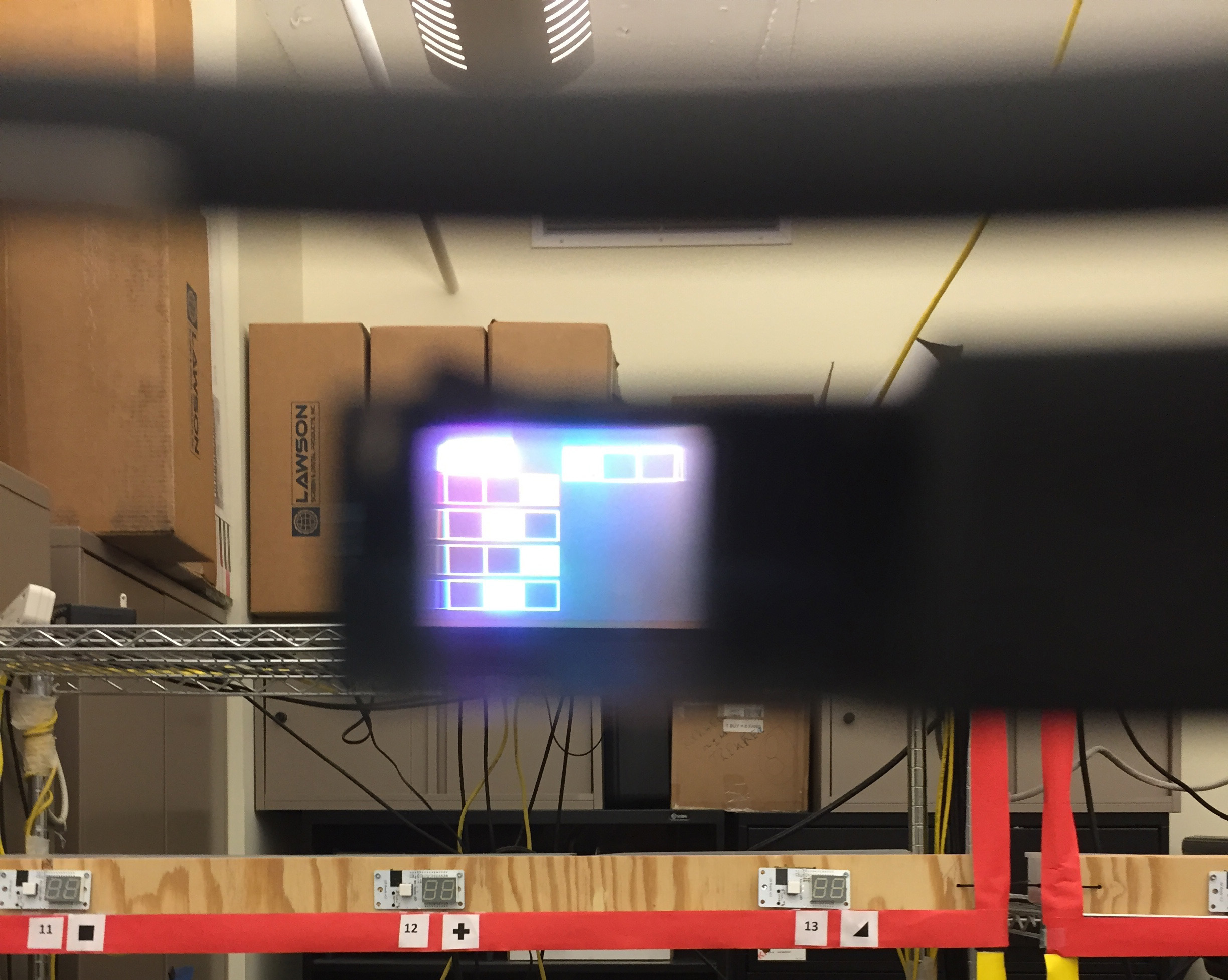 Pick-by-head-up display system using a Google Glass with a opaque display to show the pick order instructions.